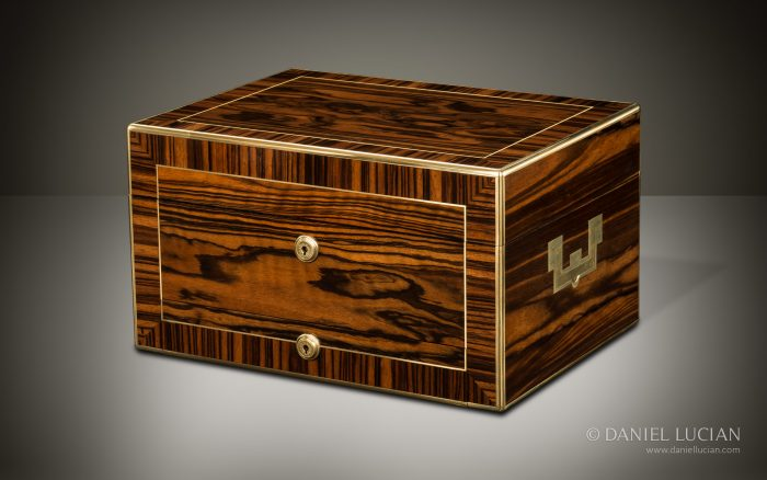 Antique Jewellery Box in Calamander with Removable Secret Compartments, by Asprey.