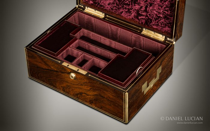 Antique Jewellery Box in Rosewood by Edwards.
