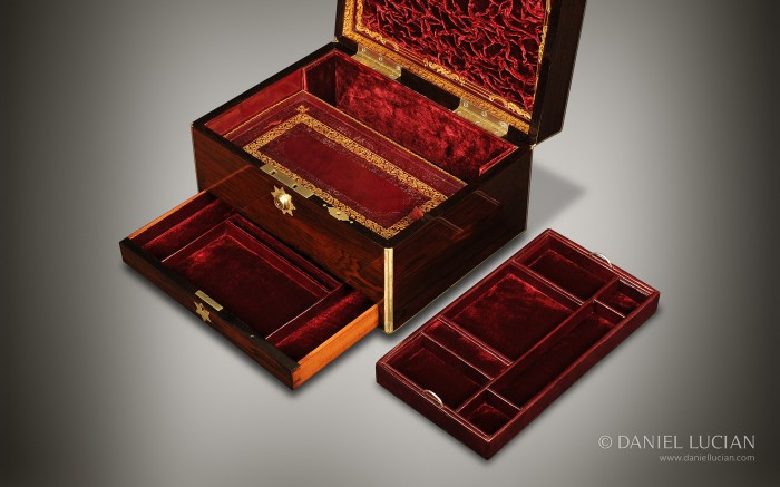 Antique Jewellery Box in Rosewood by William Halstaff.
