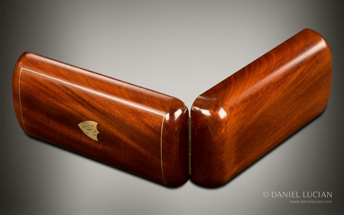 French Antique Travelling Jewellery Box in Cuban Mahogany.