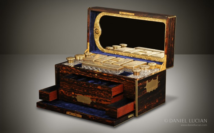 Antique Dressing Case in Coromandel by Jenner & Knewstub and James Vickery.