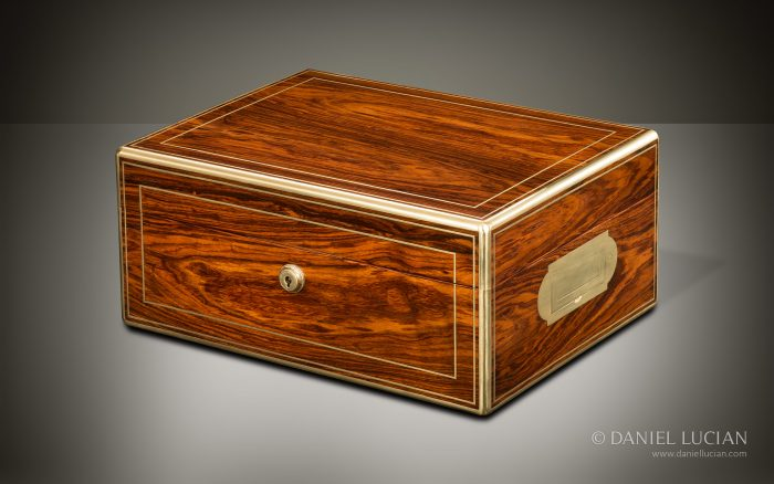 Antique Jewellery Box in Kingwood, by Wells & Lambe.