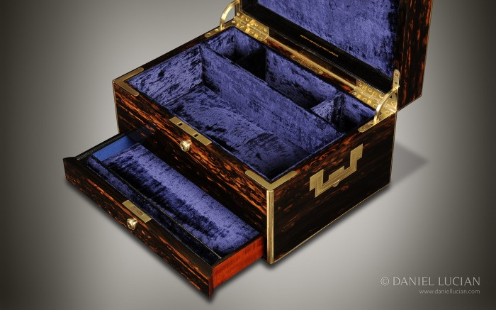 Asprey Antique Jewellery Box in Coromandel.