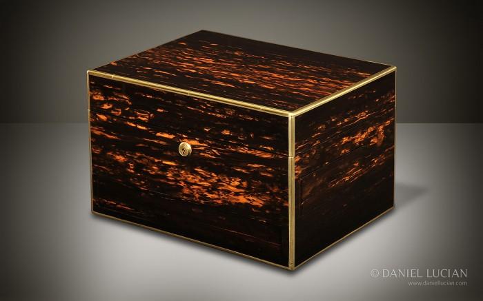 Coromandel Antique Jewelllery Box by George Betjemann & Sons.