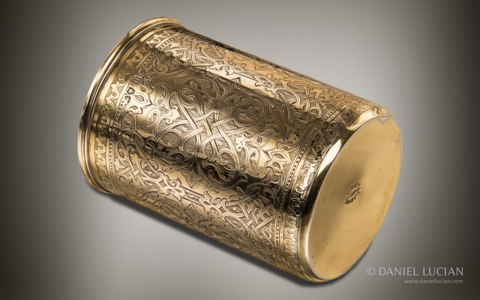 Engraved Silver-Gilt Beaker from an Antique Dressing Case by Asprey & Sons.