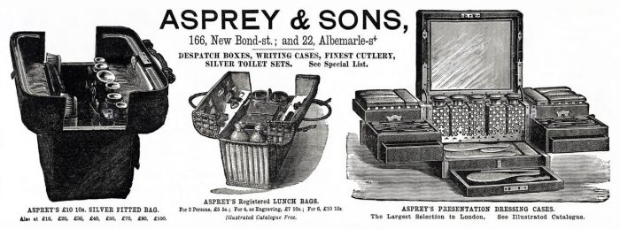 Asprey & Sons Illustrated Advertisement from 1887.