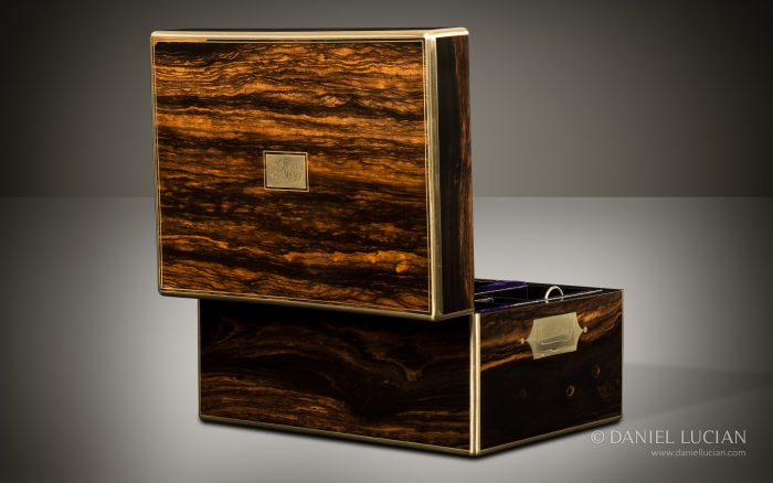 Coromandel Veneer from an Antique Jewellery Box, by Asprey.