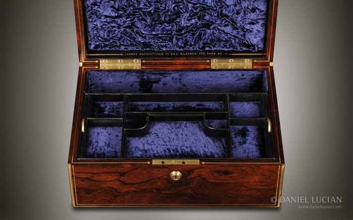 Asprey Antique Jewellery Box in Rosewood.