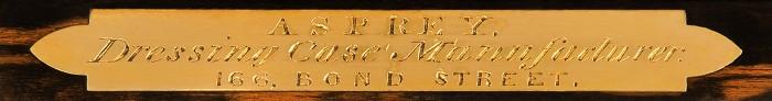 'Asprey - Dressing Case Manufacturer - 166 Bond Street'.