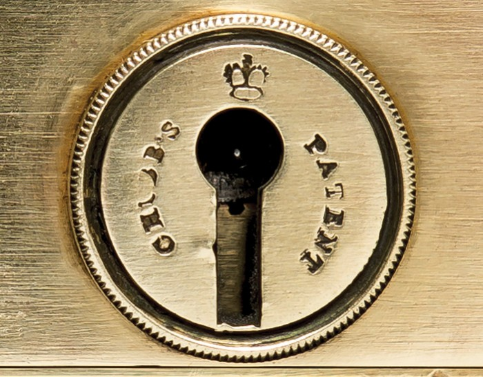 Front View of a Chubb 'Definitive' Detector Lock from 1849.