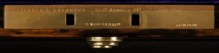 S. Mordan & Co. Lock from an Antique Jewellery Box in Coromandel with Countess Coronet, by Jenner & Knewstub.