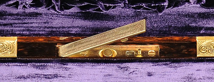 Coromandel Antique Jewellery Box with Concealed Button by William Leuchars.