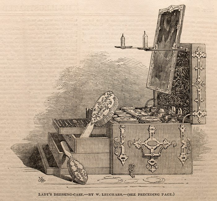 Lady's Dressing Case by William Leuchars taken from the September 1851 Illustrated London News.