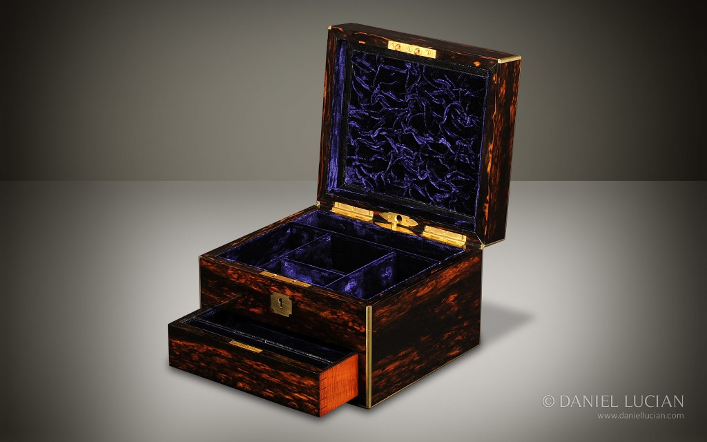 Miniature Antique Jewellery Box in Coromandel by Howell, James & Co.