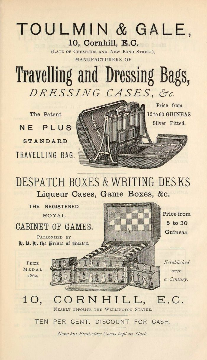 Toulmin & Gale advertisement from 1879.