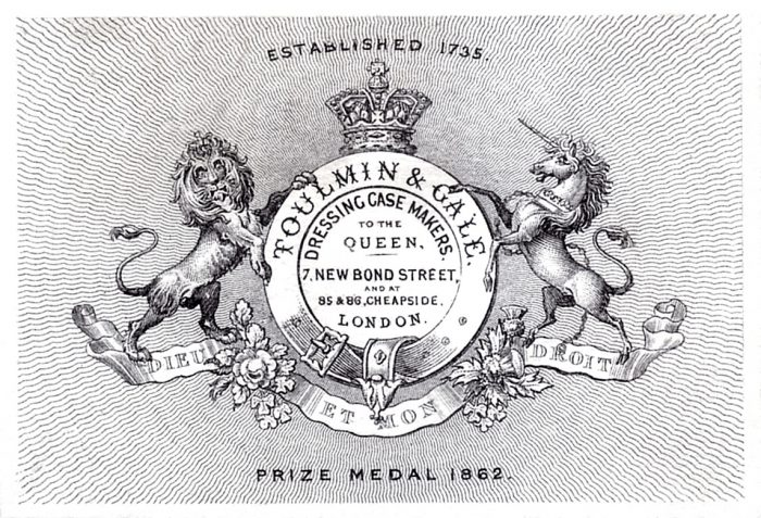 Toulmin & Gale Advertising Card from 1862.