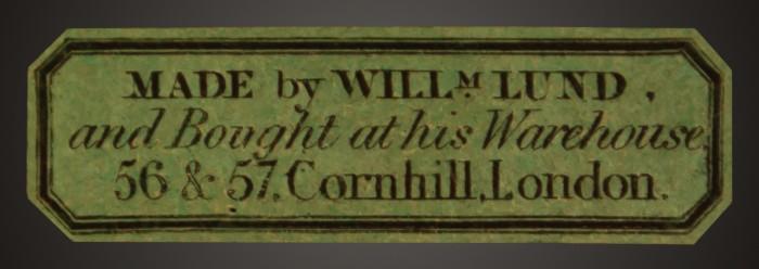 William Lund Maker's Label.