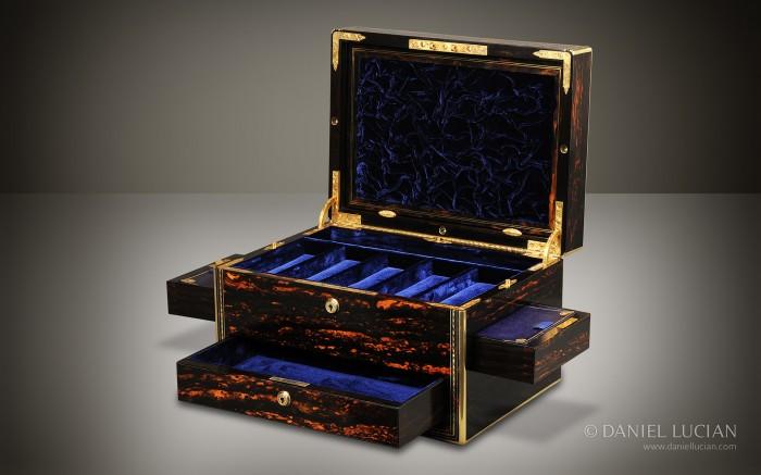 Antique Coromandel Box with Secret Floor and Compartments.