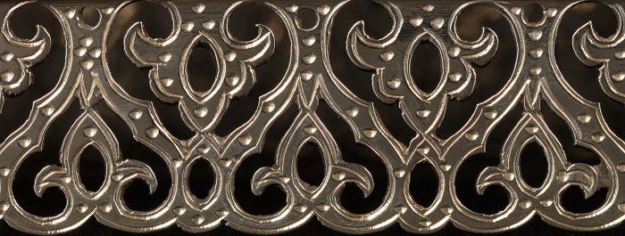 Close-Up of a Pierced Silver Dressing Case Jar Lid by George Betjemann & Sons.