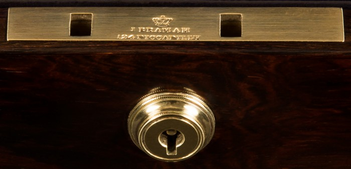 Bramah Lock Stamped, 'J. Bramah – 124 Piccadilly, London'.