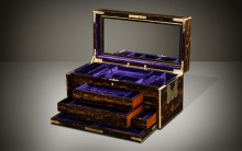 Antique Coromandel Jewellery Box with Concealed Drawers, by William Leuchars