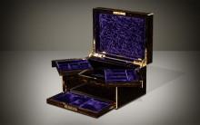 Antique Jewellery Box in Coromandel with Betjemann Patent Mechanism, by Asprey