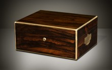 Antique Jewellery Box in Rosewood, by Bramah, Prestage & Ball