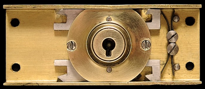 Antique Bramah Lock with Double Locking Mechanism.