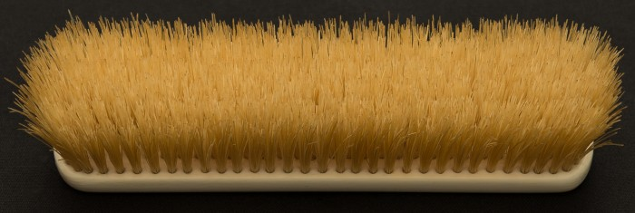 Antique Ivory Brush with Boar Hair Bristles.