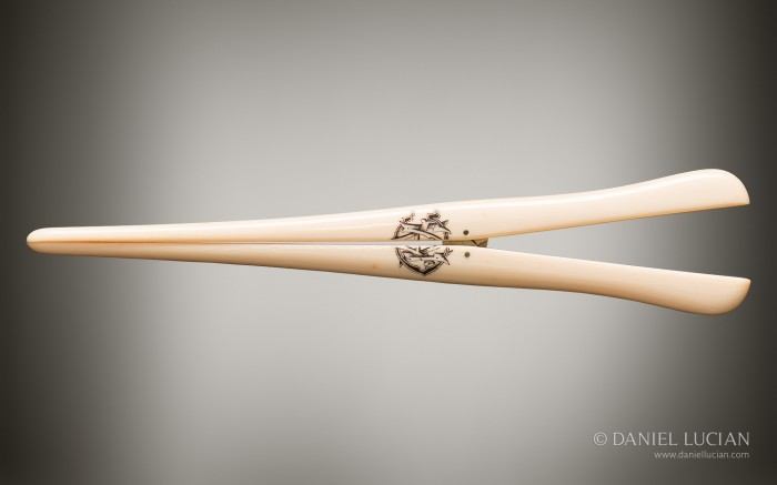 A Pair of Glove Stretchers From Antique Dressing Case with Betjemann Patent Mechanism, by Jenner & Knewstub.