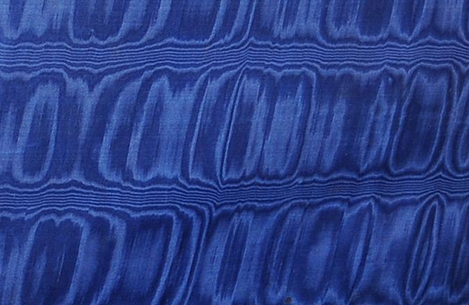Blue Moiré Silk from an Asprey Antique Jewellery Box.