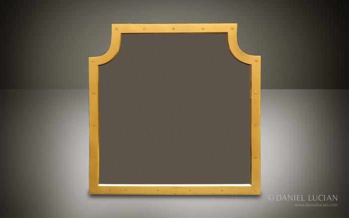 Gilt Brass Mirror Frame from an Antique Asprey Jewellery Box.