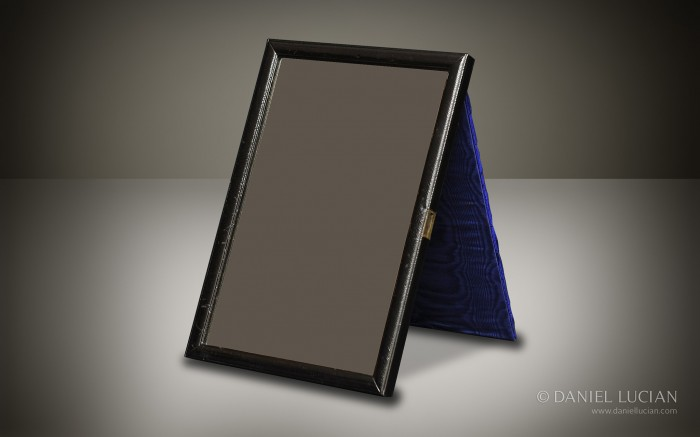 Leather-Bound Mirror Frame taken from a Betjemann & Sons Antique Dressing Case.