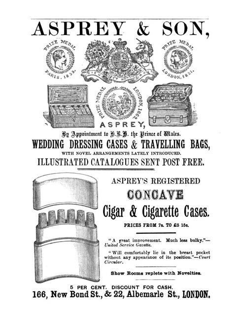 Asprey Illustrated Advertisement c.1880.