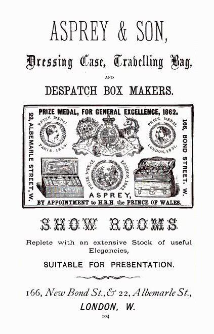 Asprey Illustrated Advertisement c.1870.