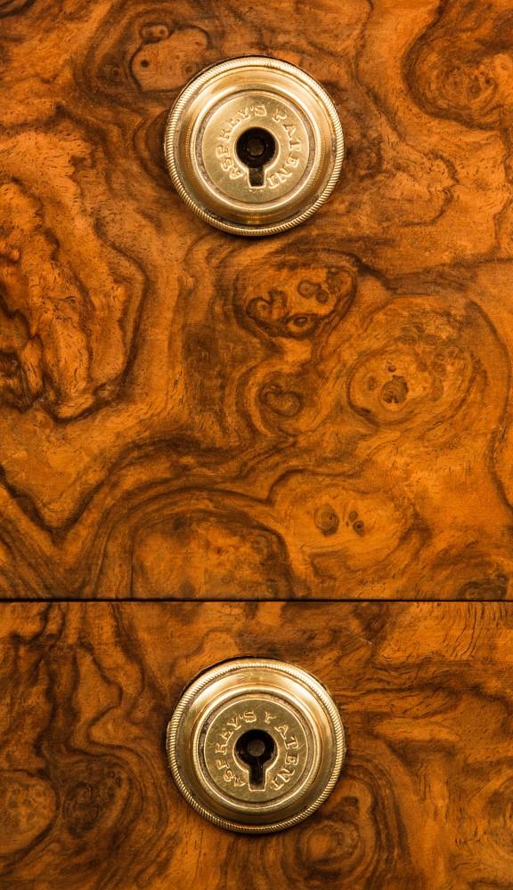 Asprey Patent Bramah Locks from an Antique Dressing Case.