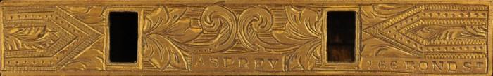 Asprey - 166 Bond Street Stamp on Bramah Lock Plate.