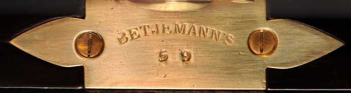 George Betjemann & Sons Patent Stamp Plate.