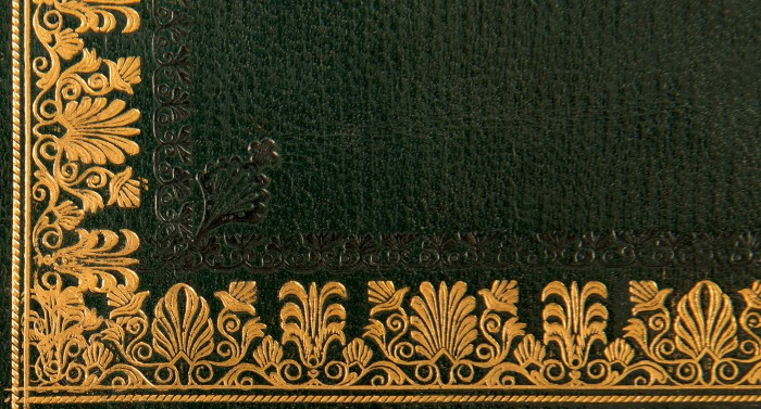 Gold Tooled Design from an Antique Rosewood Box by Edwards.