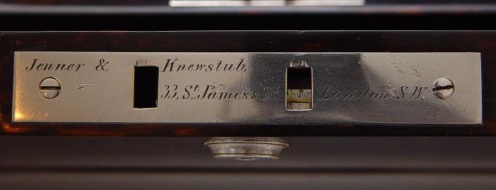 Jenner & Knewstub Signed Bramah Lock from Coromandel Jewellery Box with Betjemann Patent Mechanism.