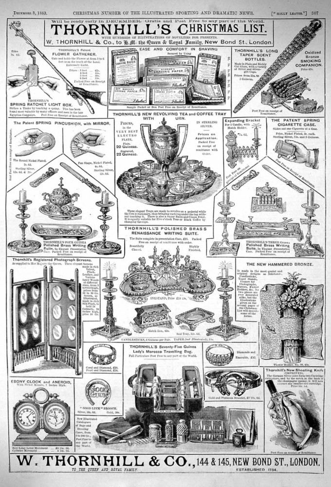 Walter Thornhill & Co Advert from 1883.