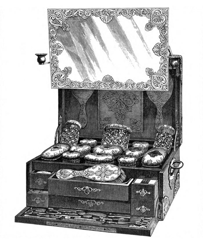 Illustration of an Asprey Dressing Case from the Official Catalogue for the International Exhibition of 1862.