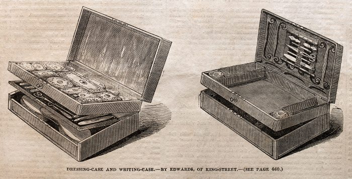 Gentleman's Dressing Case and Writing Case by Edwards, entered into the 1851 Great Exhibition.