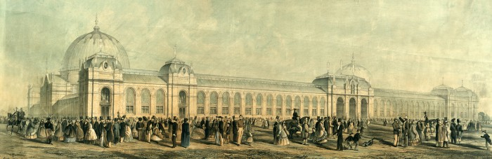 Venue of the International Exhibition of 1862, located in London's South Kensington.