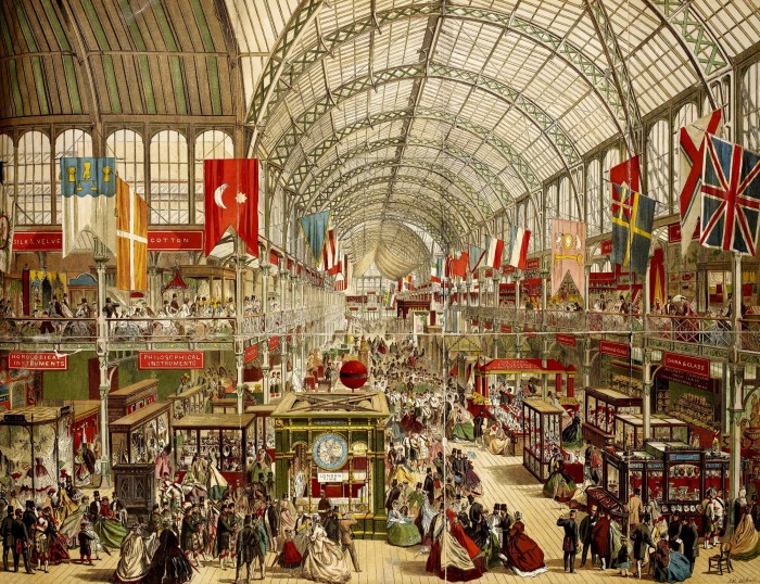 Interior View of The Great Exhibition of 1851.