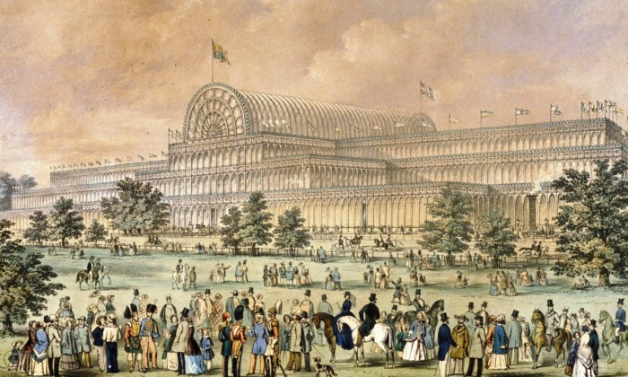 'The Crystal Palace', venue of The Great Exhibition of 1851 in Hyde Park, London.