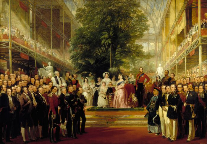 The Opening of the Great Exhibition by Queen Victoria and Prince Albert on the 1st May 1851.
