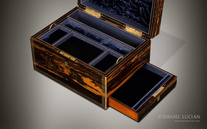 Antique Jewellery Box in Coromandel, by William Lund.