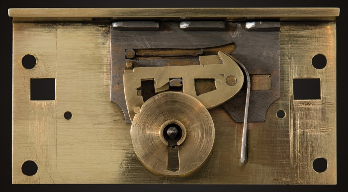 Front View of the Internal Mechanism of a Chubb 'Definitive' Detector Lock from 1849.