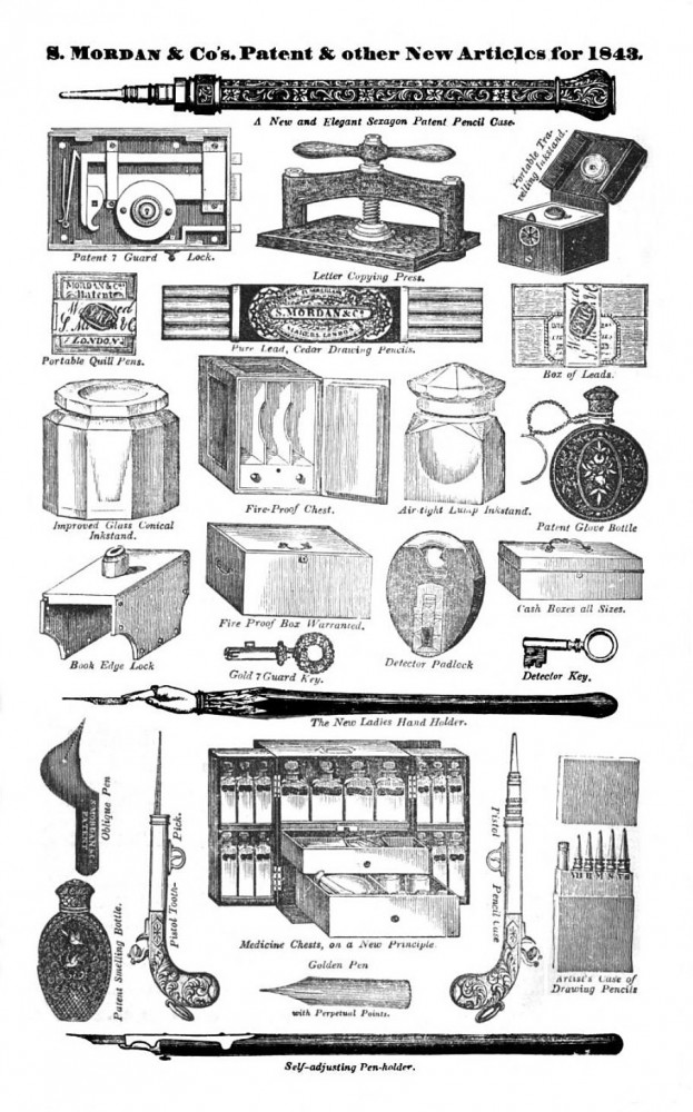 S. Mordan & Co. Advertisement from 1843.